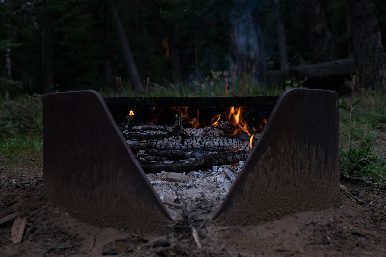 Campfire cooking reduce pack weight
