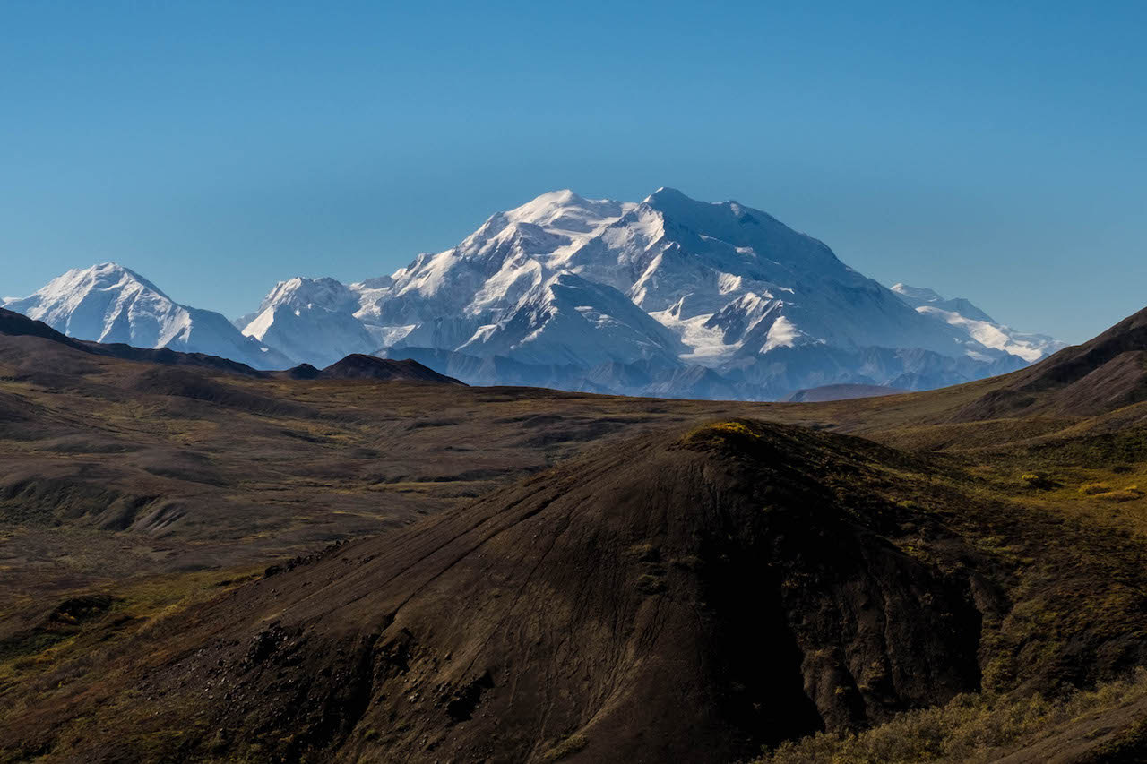 You can see Mount Denali while hiking Denali back country