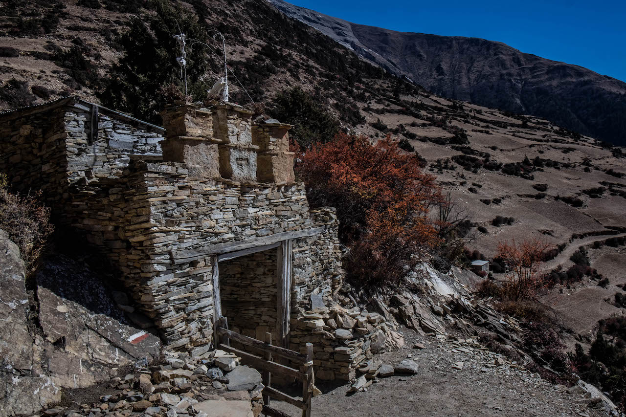 You'll pass many temples while hiking the Annapurna Circuit