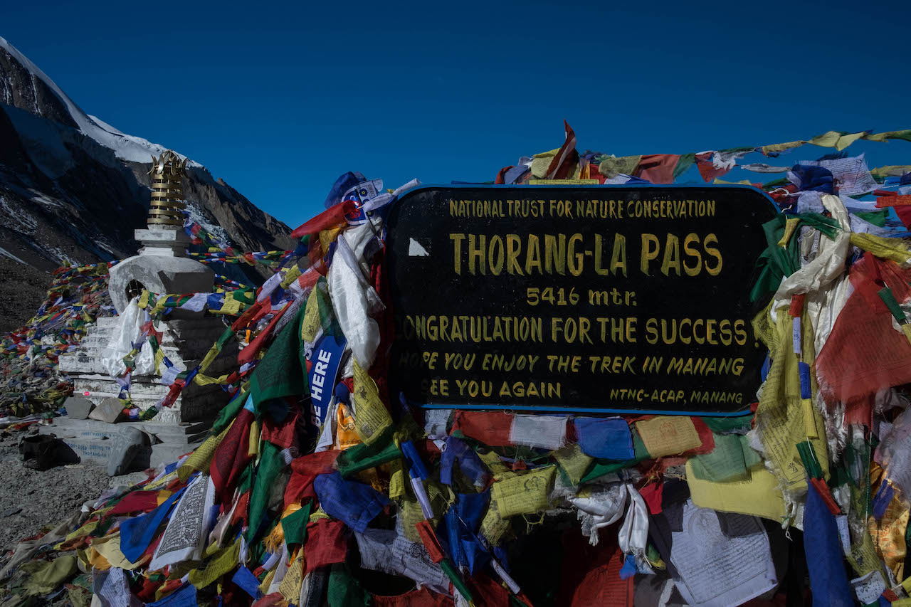 Hiking the Annapurna Circuit will take you over the Thorang La Pass