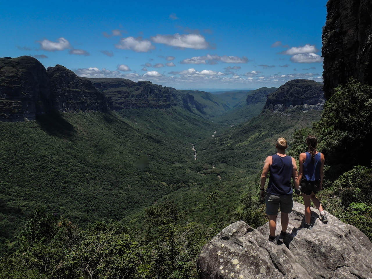 Four South America Hikes looking out