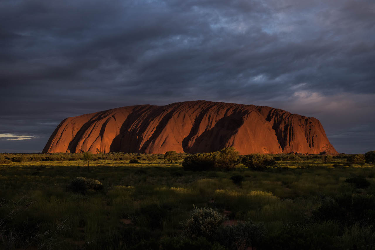 Sunset at Uluru is a must see on any outback roadtrip.