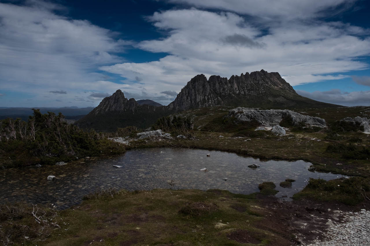Hiking the overland track takes you past cradle mountain