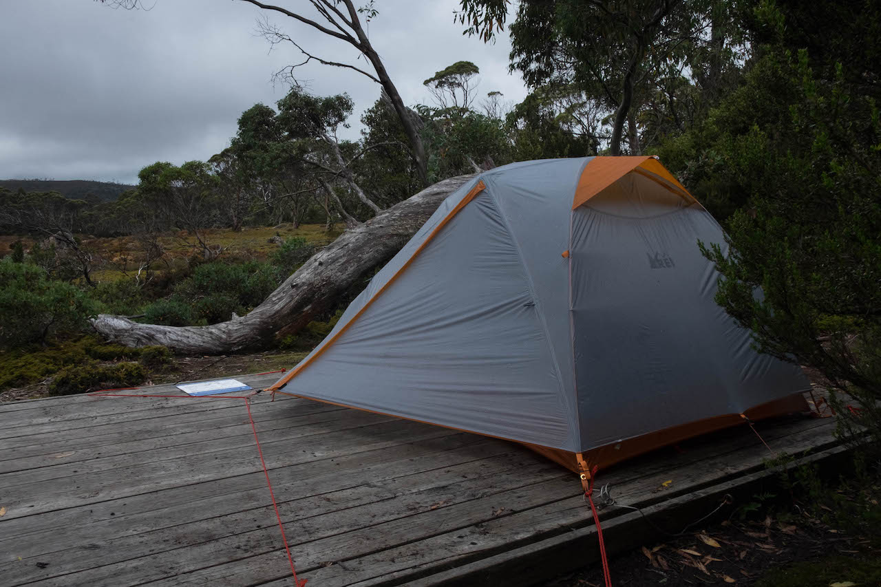 You need a tent for hiking the overland track