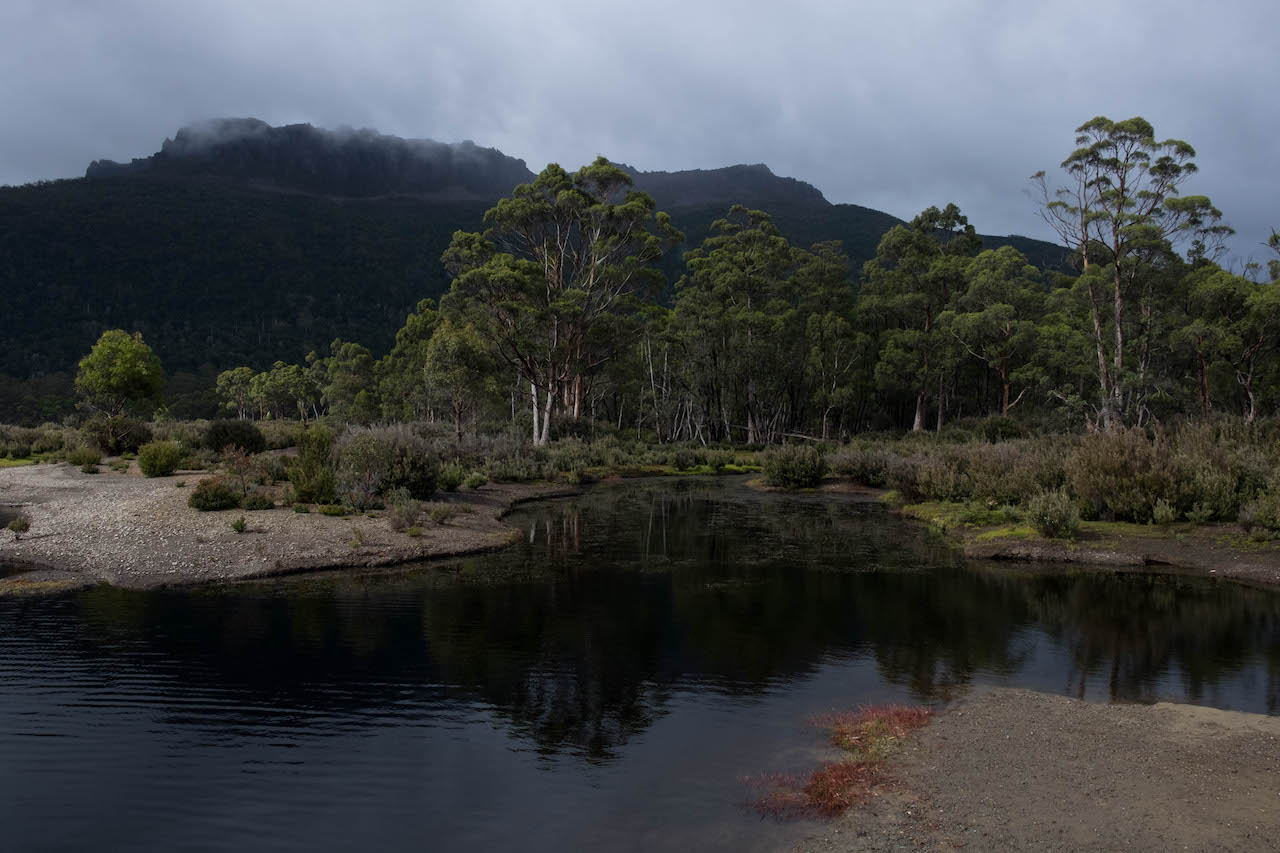 Hiking the overland track ends at Narcissus Lake