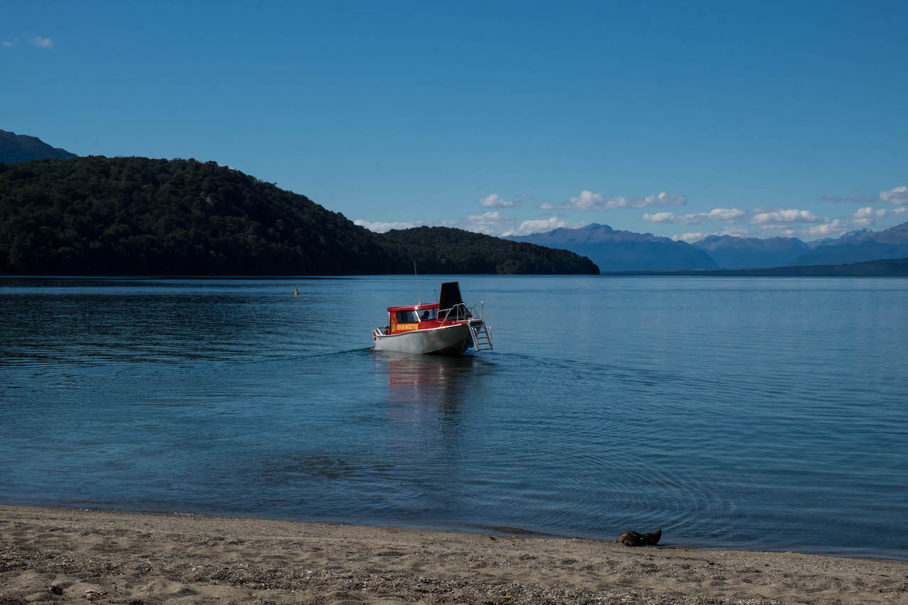 The water taxi will take you to brod bay on the Kepler Track