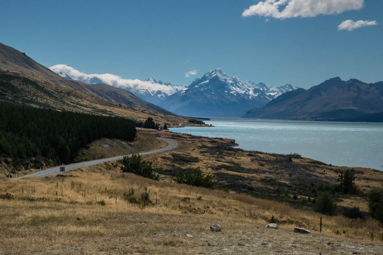 Living out of a van and driving past Mt Cook